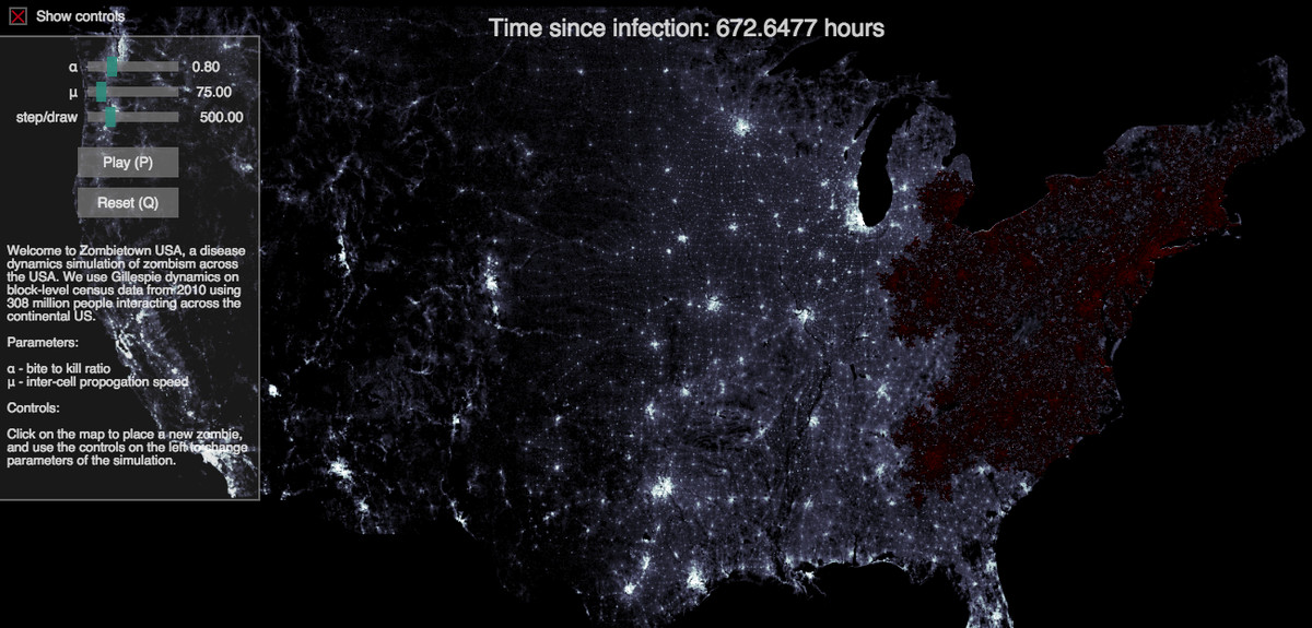 How would a zombie invasion play out in the US? These scientists