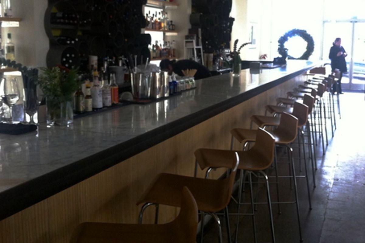 The bar at Bocado.