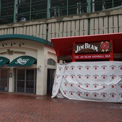 The western portion of the Draft Kings Sports Zone, along the Jim Bean Highbar Bar, that will also be removed