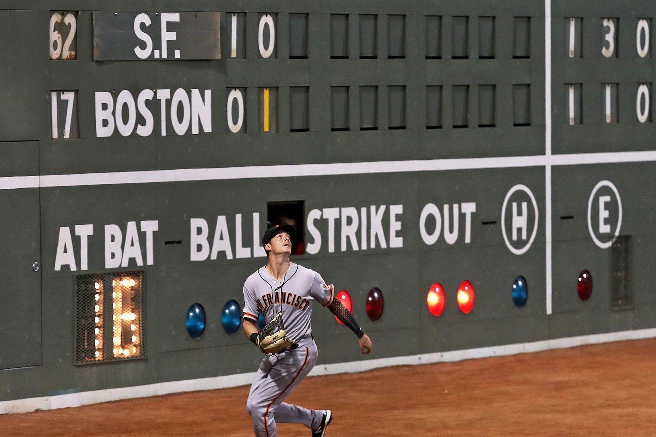 San Francisco Giants Vs. Boston Red Sox At Fenway Park