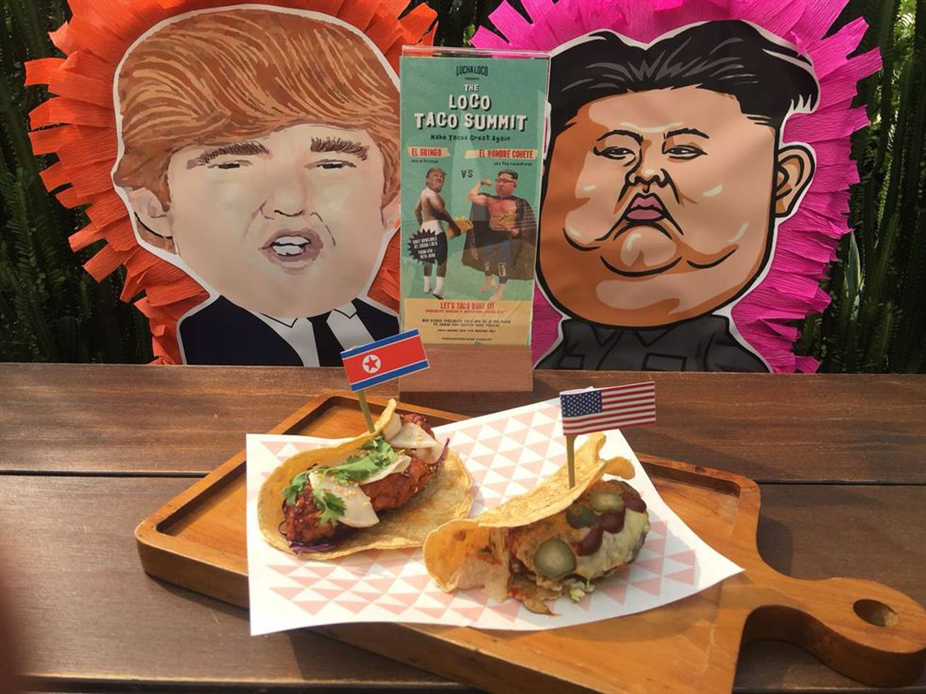 Singapore Restaurants Commemorate Trump-Kim Summit With Themed Tacos and Burgers