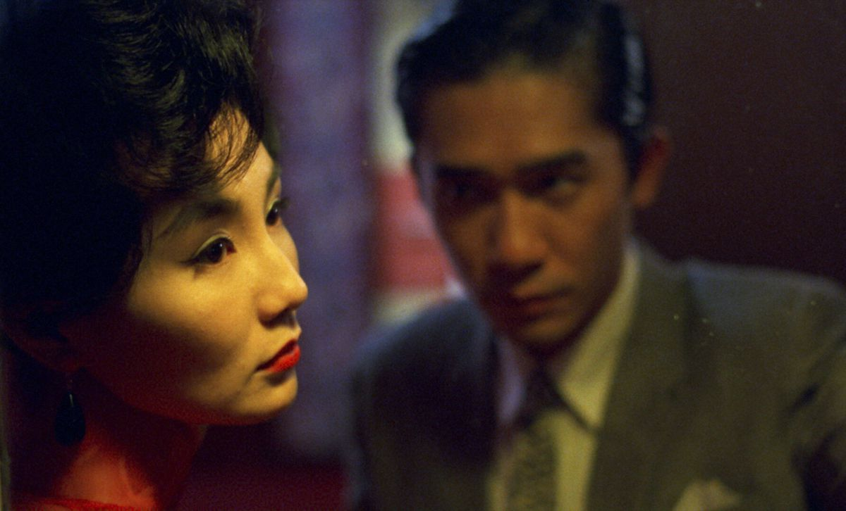 Maggie Cheung and Tony Leung as Su Li-zhen and Chow Mo-wan in Wong Kar-Wai's In the Mood for Love