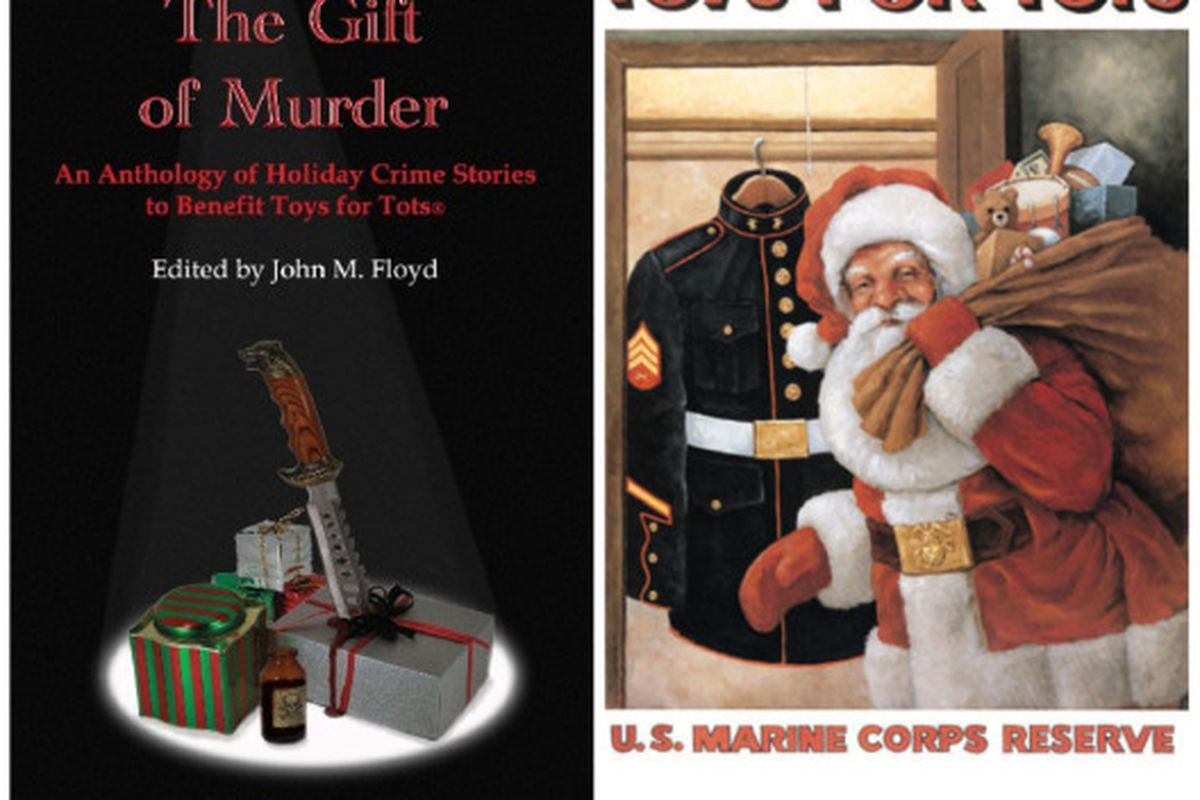 """Saint Nick thinks he's so lively and quick, but we know his grisly secret. Images via <a href=""""http://wolfmont.com/"""">Wolfmont Press</a> and <a href=""""http://www.toysfortots.org/"""">Toys for Tots</a>"""