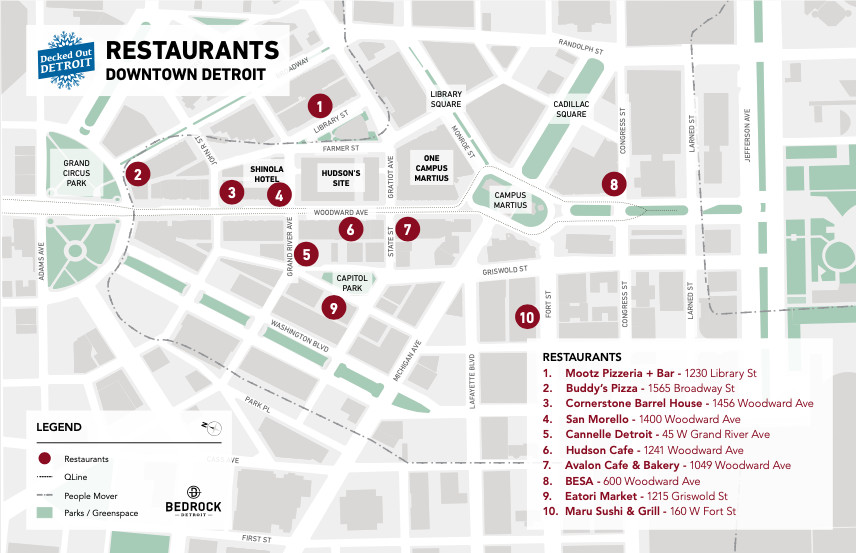 A map of participating restaurants.