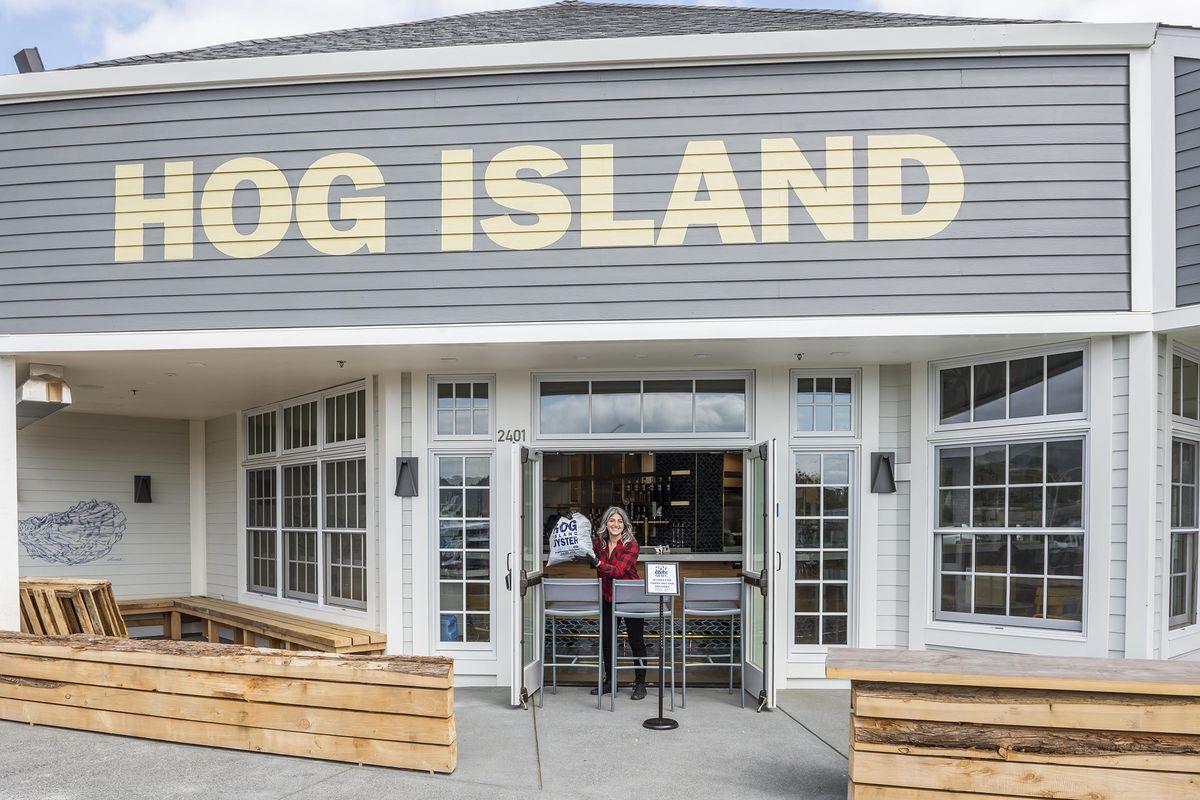 Hog Island Larkspur takeout entrance