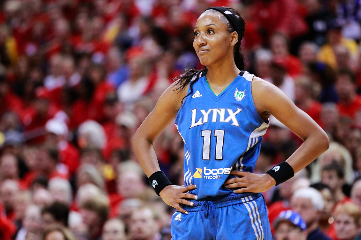 Candice Wiggins started her pro career for the Minnesota Lynx where she won a WNBA title along the way. Sorry, the SB Nation image feed didn't have any pics of her in a Shock uniform.