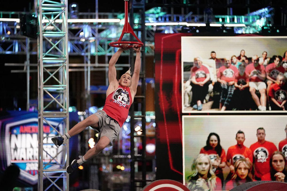 "Utahn Kai Beckstrand competes on ""American Ninja Warrior."""