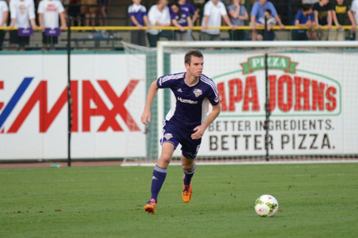Conor Shanosky had a couple of key clearances late in the match against Charlotte.