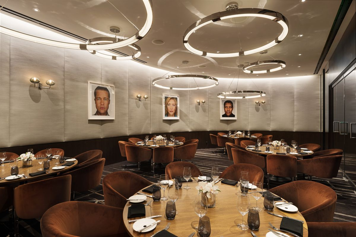 The private dining room at Wolfgang Puck's Cut