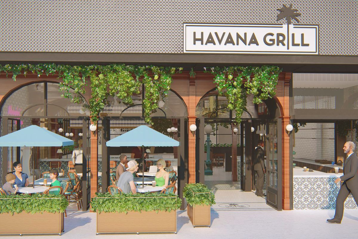 Rendering of Havana Grill at Westfield Mission Valley