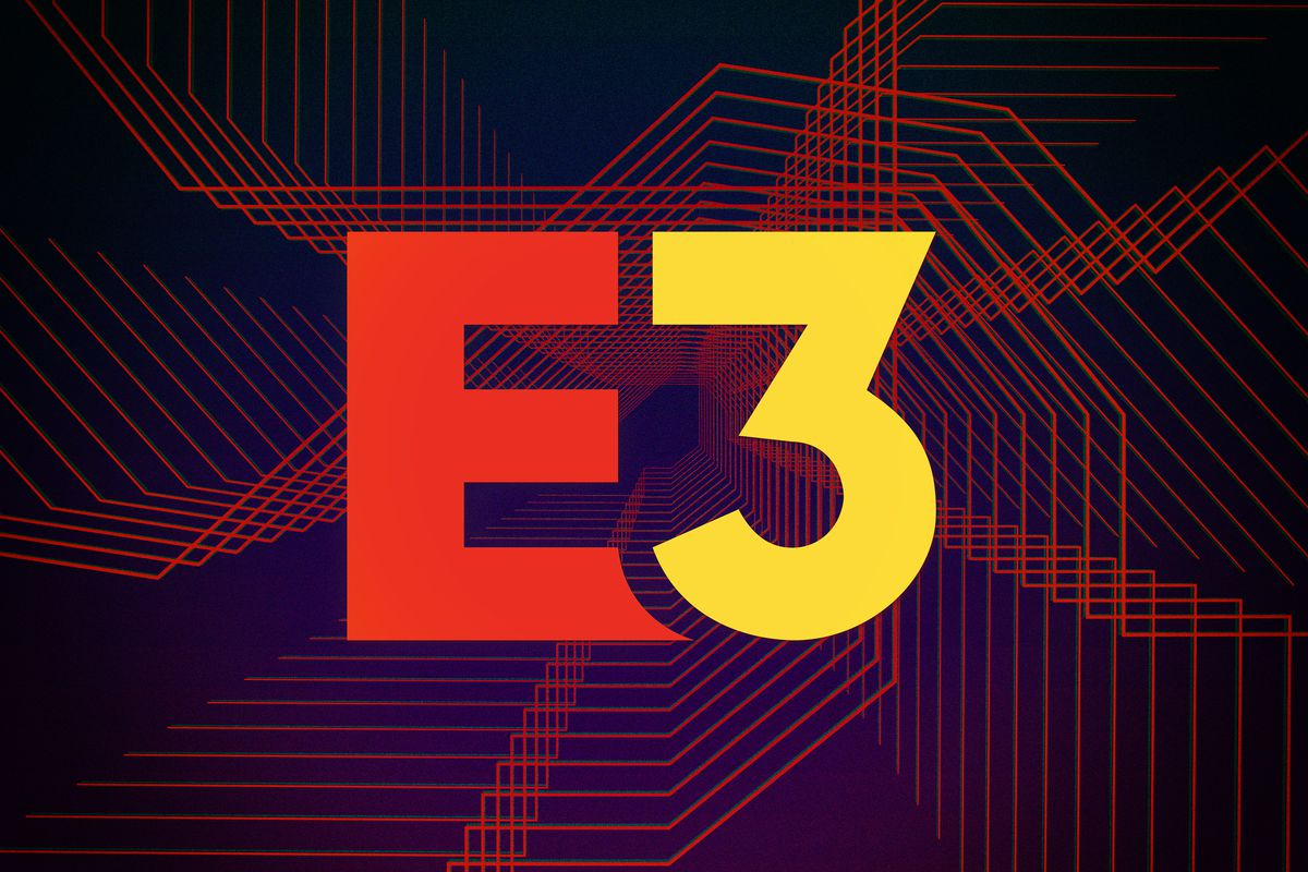 Graphic illustration of E3 logo and parallel lines