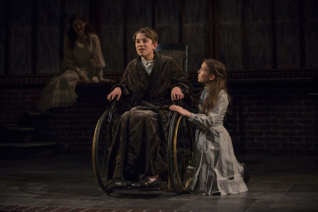"""Trent Noor (in wheelchair) and Tori Whaples in """"THe Secret Garden"""" at Court Theatre. (Photo: Michael Brosilow)"""