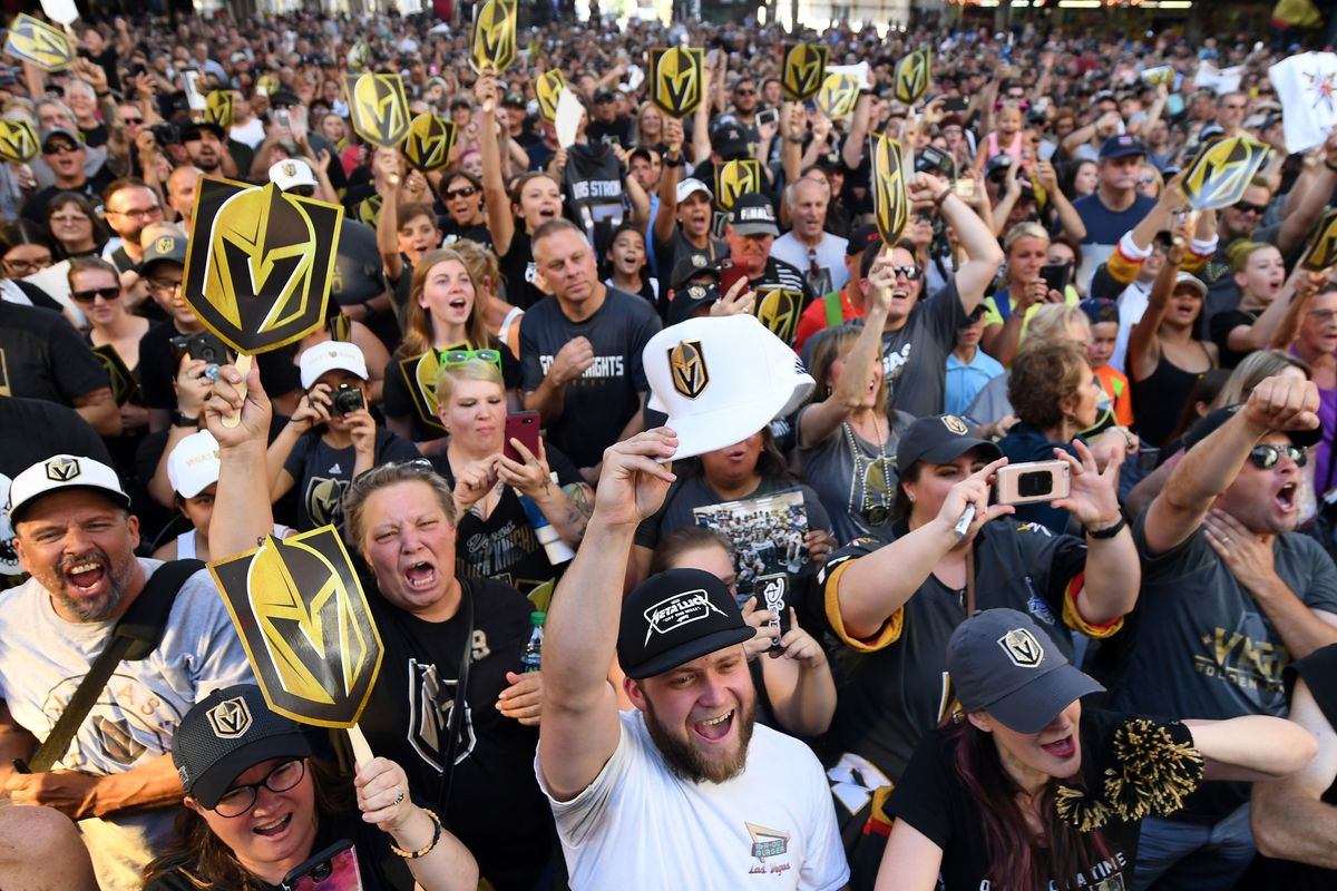 Vegas Golden Knights Host 'Stick Salute To Vegas And Our Fans' Event