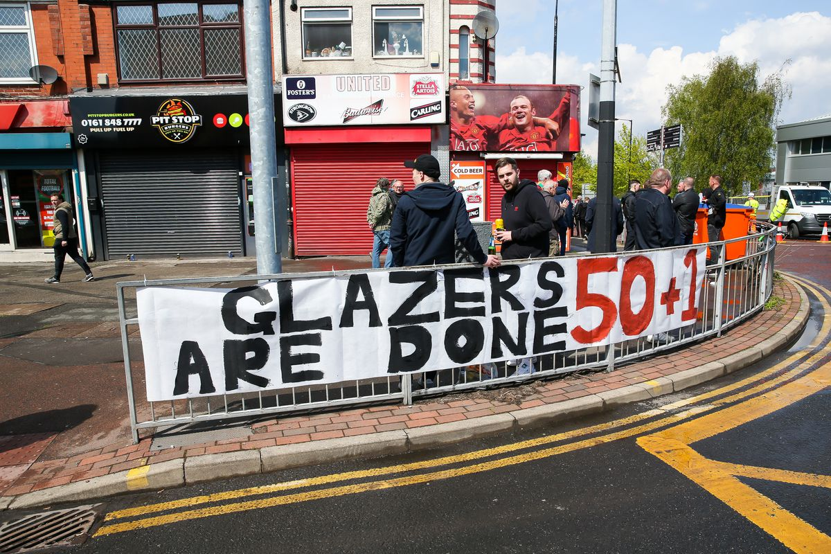Manchester United fan protest - Old Trafford