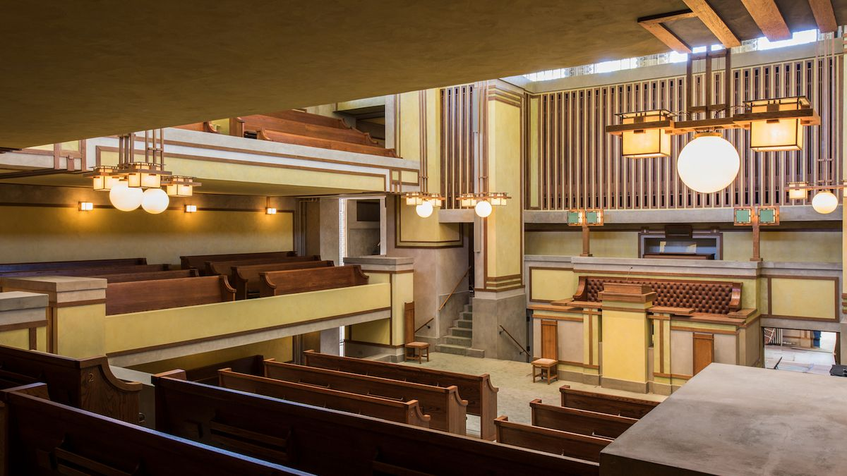 inside lighting. Restoration Done Wright: A Look Inside Unity Temple Lighting D
