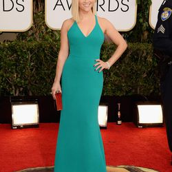 Reese Witherspoon keeps it simple in a Calvin Klein gown and Harry Winston jewels.