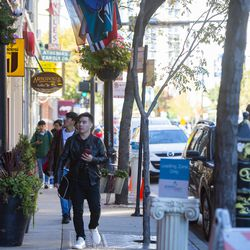 Greektown is a popular stop for locals and tourists alike.     Tyler LaRiviere/Sun-Times
