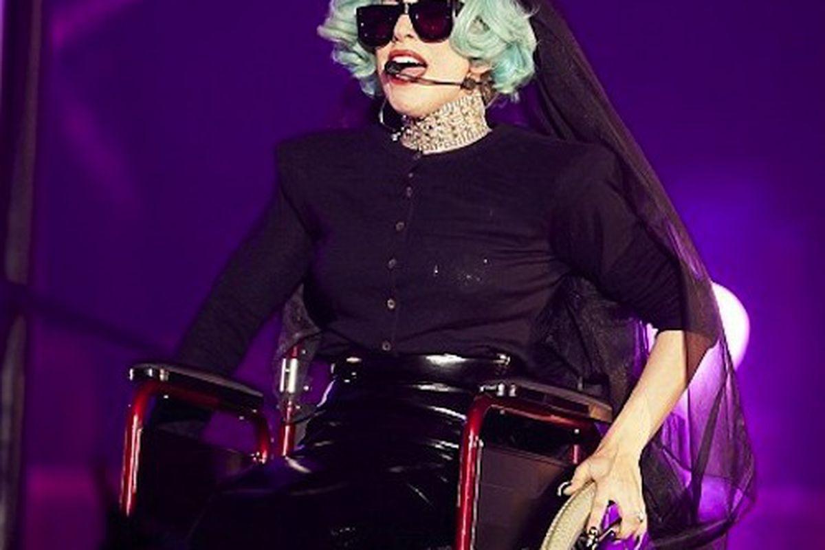 """Photo:<a href=""""http://freddyo.com/lady-gaga-in-wheelchair-gets-egged-youtube-account-suspended/breaking-news/""""> Freddyo</a>"""