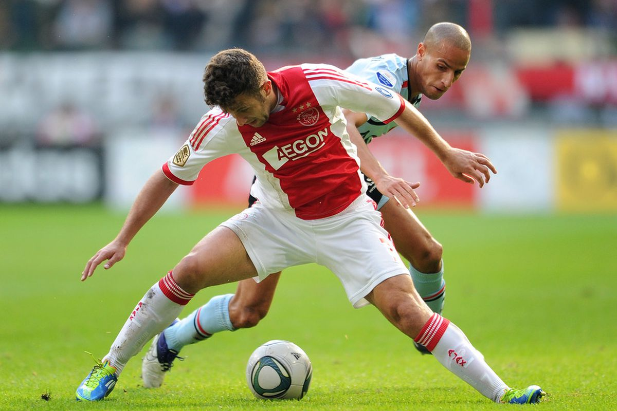 """Sorry guys, we only have two photos of Karim El Ahmadi right now. Take our word for it that this is """"possession football"""""""
