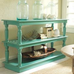 """Just two tables ... find 'em, paint 'em, stack 'em. Love this idea."" [<a href=""http://pinterest.com/pin/26951297740737852/"">MTP via Corinne Walker</a>]"