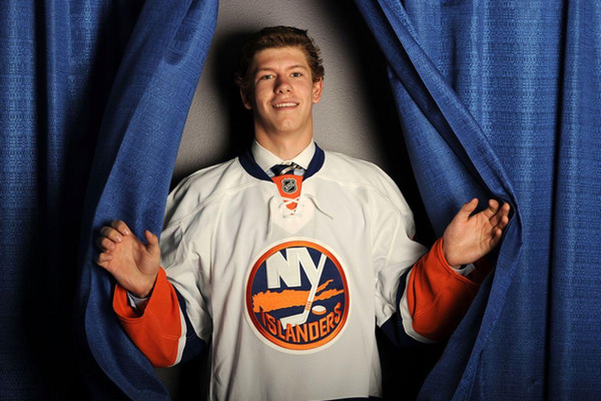 Clark strikes the signature 2010 NHL Draft pose.