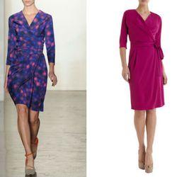 "<a href=""http://www.barneys.com/Andover-Dress/501830256,default,pd.html?cgid=DRESS01-1"">Andover Dress</a> $298, a classic wrap"