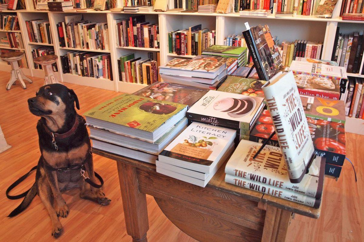 A customer at Omnivore Books
