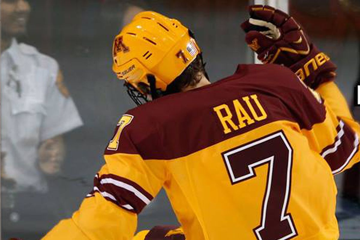 Kyle Rau leads the Gophers with 8 points against the Beavers