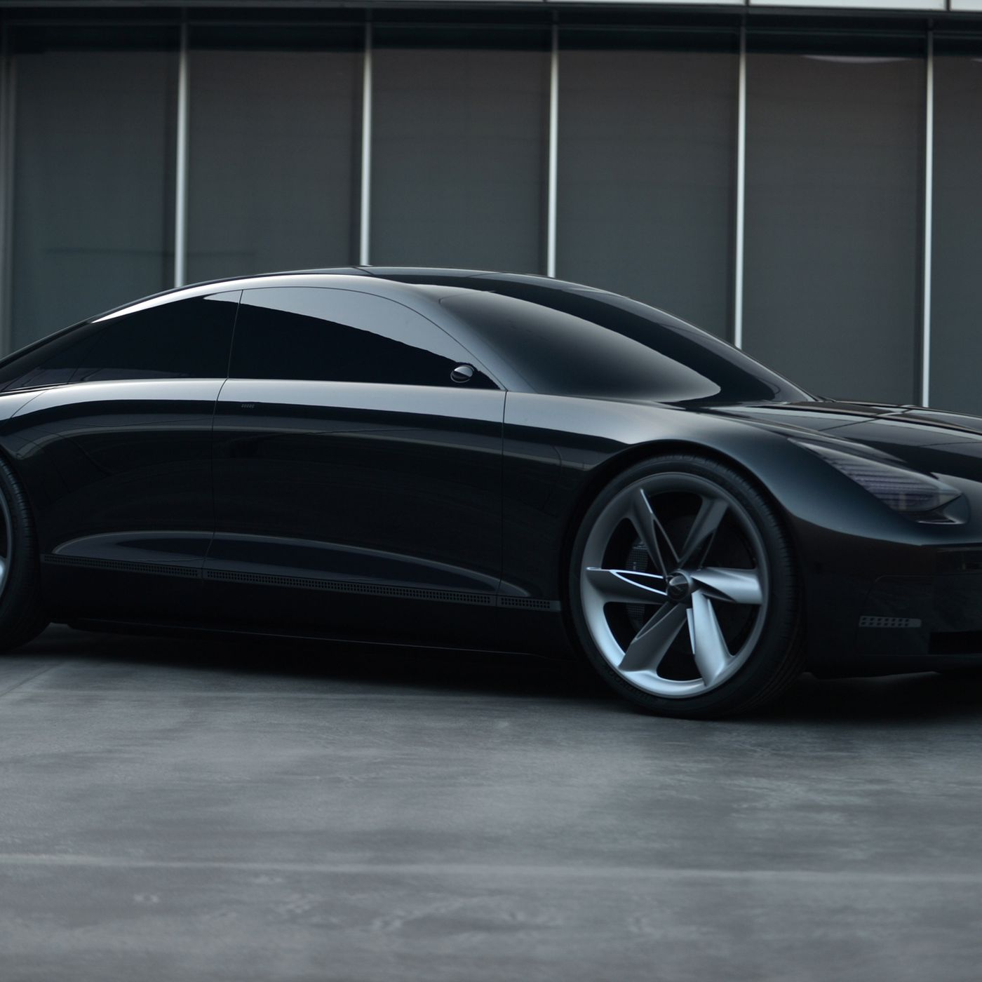 Hyundai S Prophecy Concept Looks Like The Baby Of A Porsche And A Model 3 The Verge