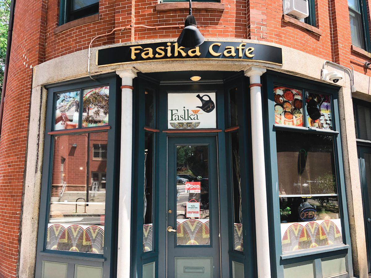 The exterior of Fasika Cafe
