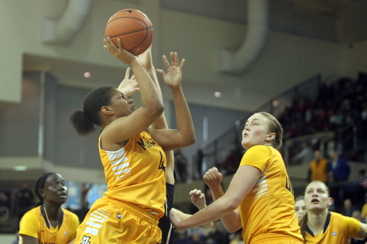 Arlesia Morse got five of her eight made baskets in close against Xavier.