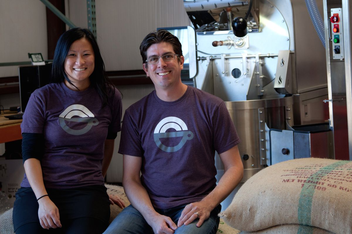 Greater Goods Roasting's Khanh Trang and Trey Cobb