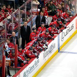 Capitals Bench Looks On
