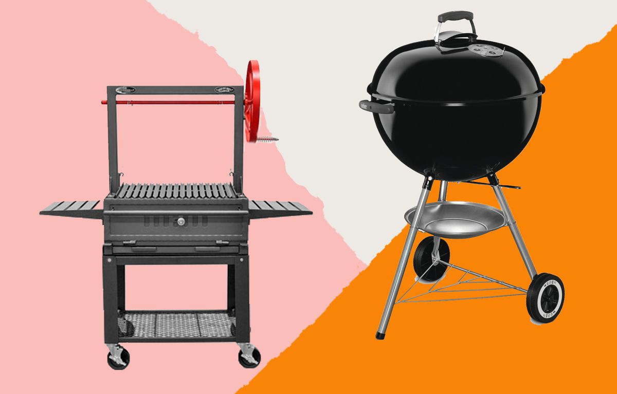 Sunterra Santa Maria 30-Inch Cart Grill (left); Weber Original Kettle Charcoal 22-Inch Grill (right)