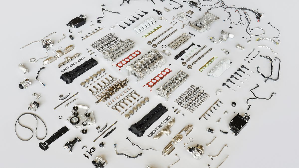 this disassembled aston martin db11 engine is engineering