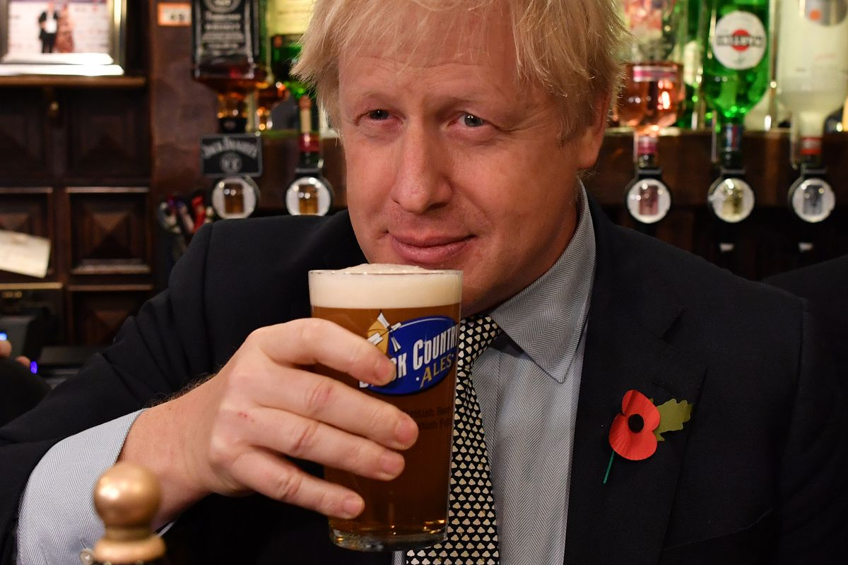 Britain's PM Johnson Campaigns For Re-Election