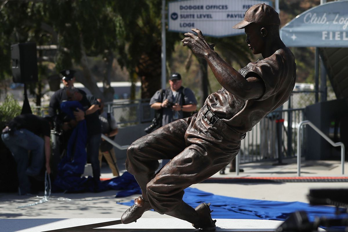 Los Angeles Dodgers Unveil Jackie Robinson Statue