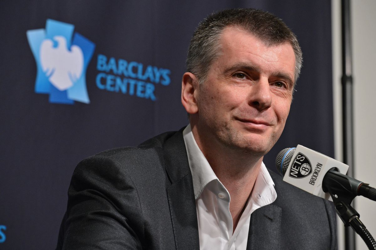 Brooklyn Nets Owner Mikhail Prokhorov Speaks with the Media