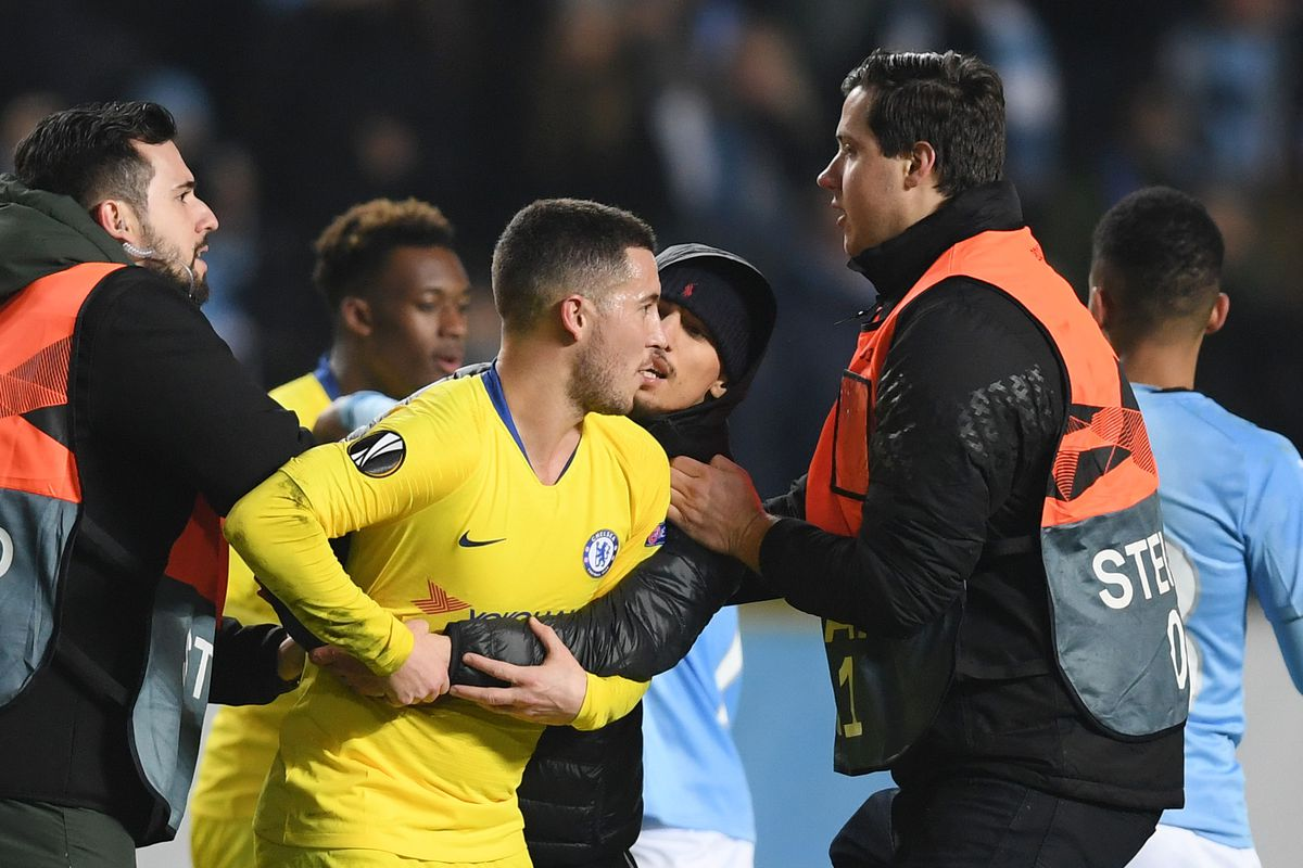 b865cf321 Chelsea fined for fans running onto the pitch and throwing things in Malmo