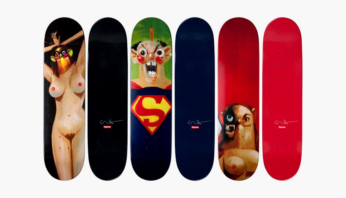 Supreme sakte decks made in collab with George Condo