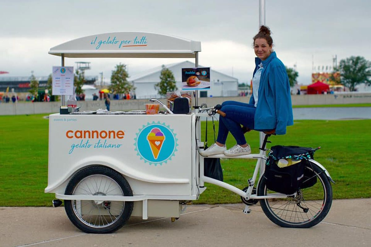 Cannone Gelato Italiano's bicycle cart