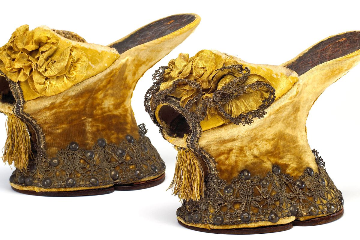 Italian courtesans wore insane chopines, adopted from the heels worn by aristocratic men. Photo: Getty Images