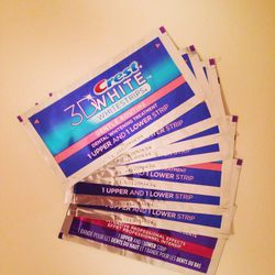 """My secret to white teeth isn't a high-tech gadget. Whitening strips! I've been using <a href=""""http://www.crest.com/crest-products/intensive-pro-effects-whitestrips.aspx""""><b>Crest</b></a> 3D Whitestrips for months now along with whitening toothpaste. I'm a"""