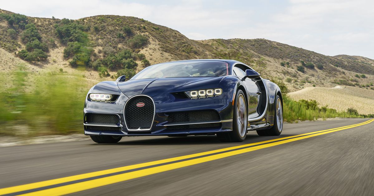 looking at the bugatti chiron is just as much of an event as driving