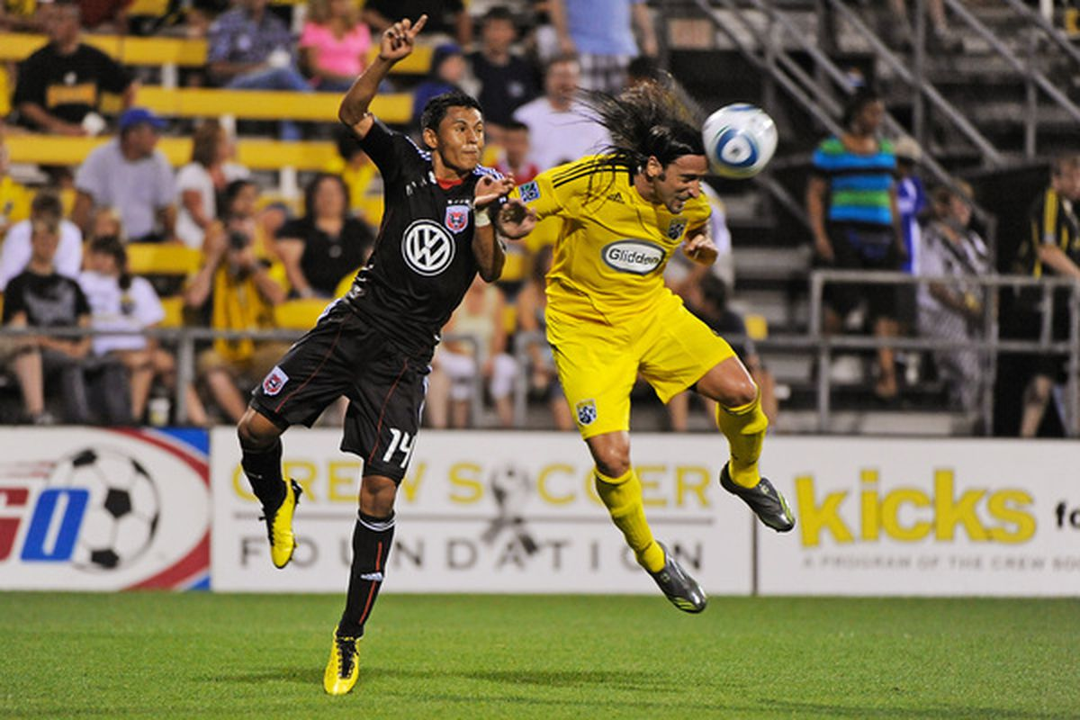 Andy Najar and Gino Padula battled for much of this Open Cup match