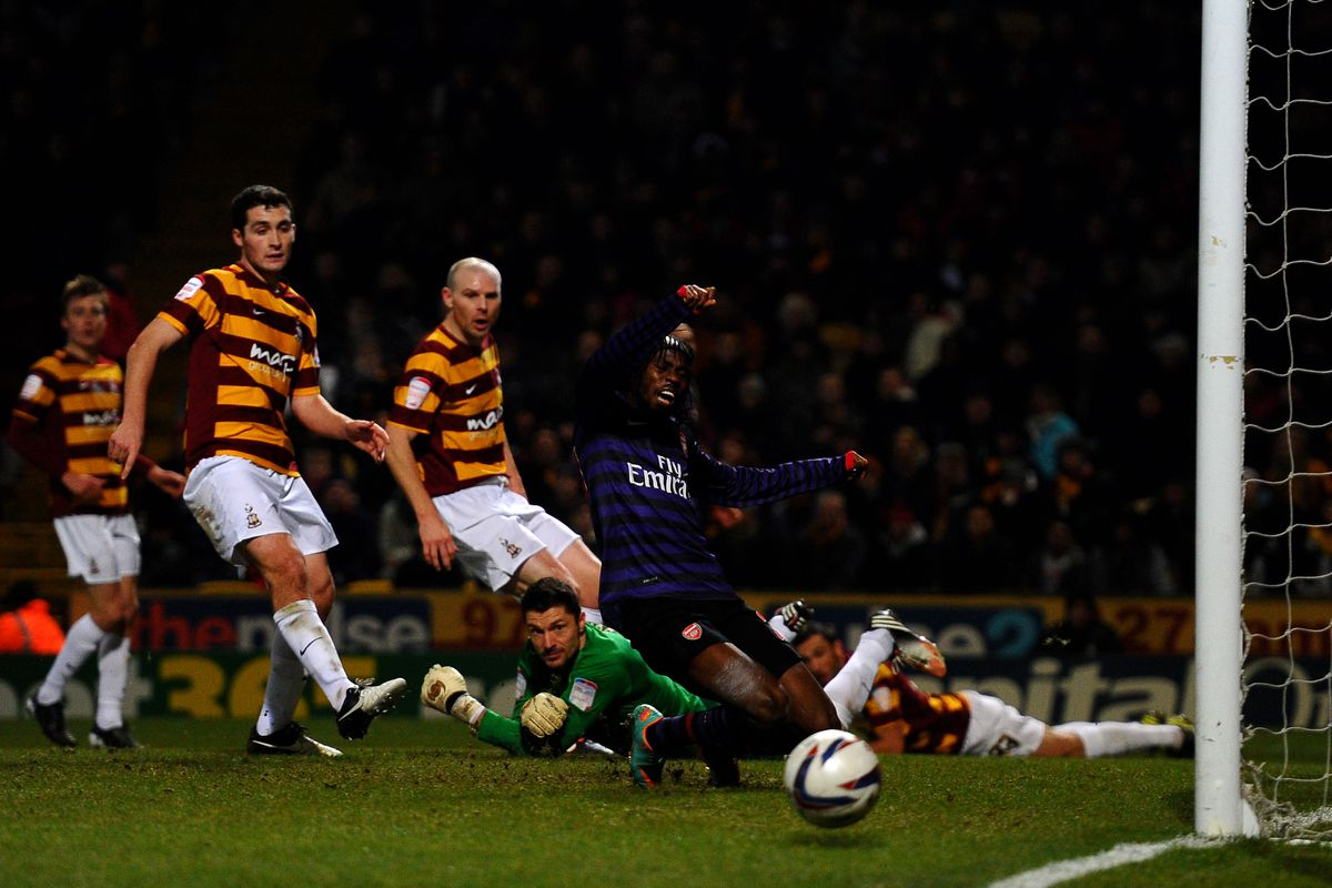 If Arsenal does meet Bradford, expect to see this in your nightmares.