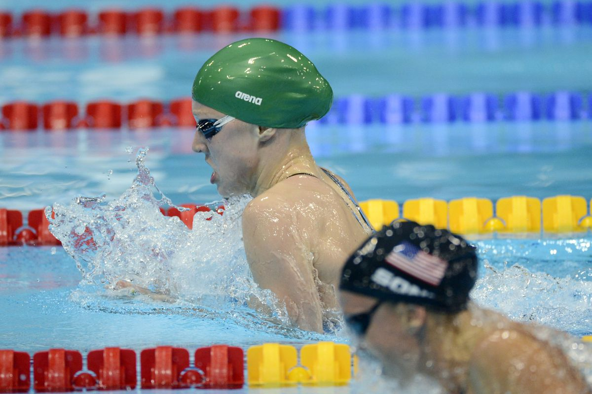 Rebecca Soni came up just short in the 100m breaststroke, missing out on gold by 0.08 seconds.