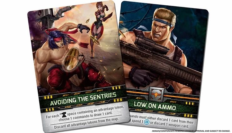 Contra: The Board Game Stage hazard cards
