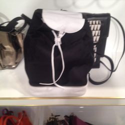 Canvas-and-leather backpack, $125