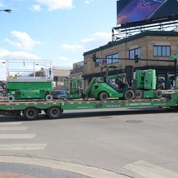 4:42 p.m. More equipment leaving the work site -